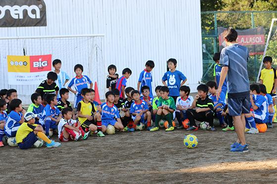 元日本代表サッカー選手・平瀬智行スペシャルサッカー教室